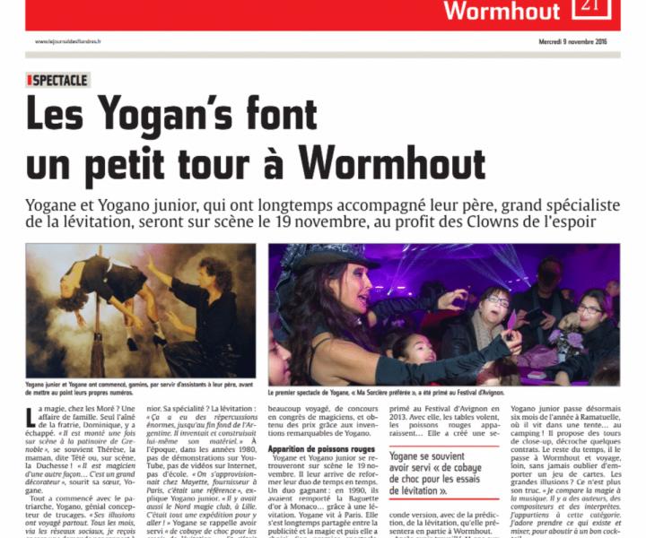 Les Yogan's dans le Journal des Flandres à Womhout