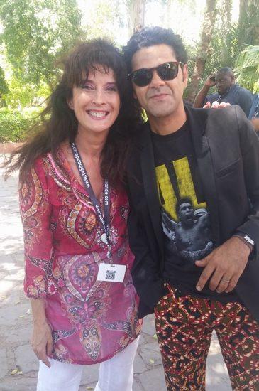Yogane magicienne au Marrakech du Rire 2016 avec Djamel DEBBOUZE
