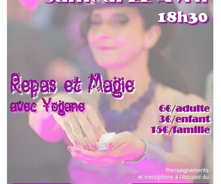 Retrouvez la magicienne Yogane ce samedi 22 avril dans un spectacle mêlant repas et magie à Paris.